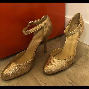 J.Crew Gold Heels - Size 9.5